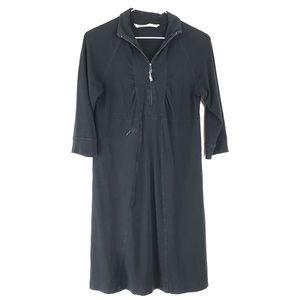 Athleta 3/4 zip Mock neck Long Sleeve Dress Small